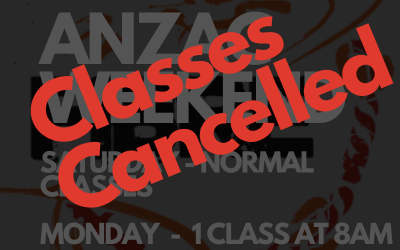 ANZAC Day Class Cancellations due to COVID Outbreak in Perth